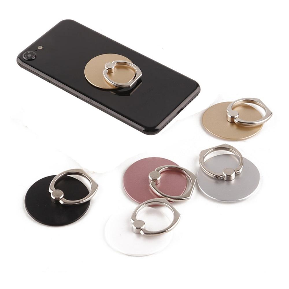 Suportes do telefone móvel para a mesa de suspensão suportes universais metal telefone anel titular magnético preto mármore holde