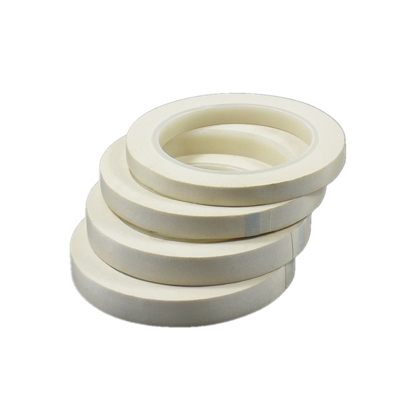 1 قطعة الأبيض لهب خلات الشريط عالية درجة الحرارة التفاف النار العزل شريط أكريليك 30 متر شريط كهربائي ل PC