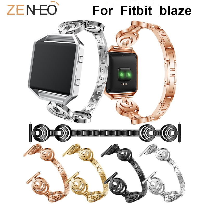 23MM wristband Bling Rhinestones Strap For Fitbit Blaze Classic Frontier watch Band For Fitbit Blaze bezel watchbands 23mm