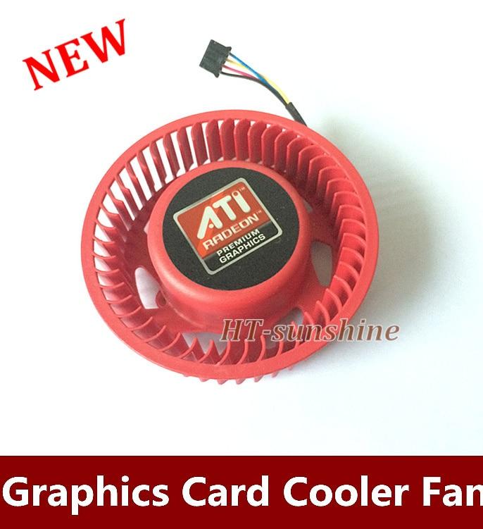 Para ATI HD4870 HD4890 HD5850 HD5870 HD5890 Foxconn PVB070G12H 75mm tarjeta de gráficos de Video reemplazo del ventilador del refrigeración 37mm 12V 1.00A