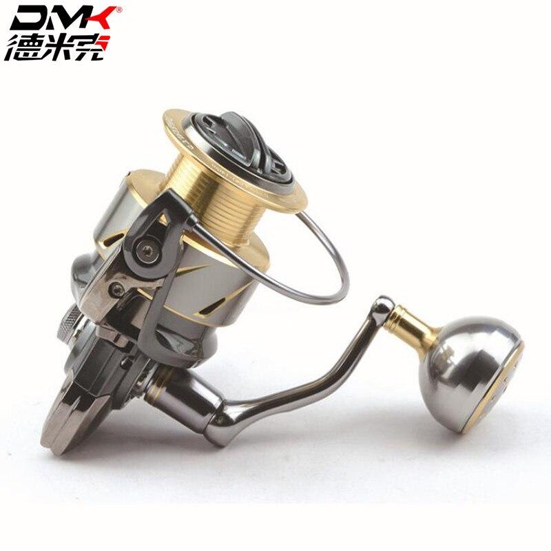 Dmk 800-5000 tamanho molinete de pesca fiação 5.21/11 + 1bb volante cnc lidar com molinete para molinete molinete molinet peche