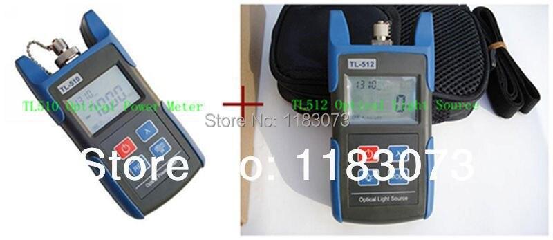 FTTH Set Optical Power Meter TL510C -50- + 26dBm & Optical Light Source TL512 FTTH Optical Multimeter Fiber Equipment Tools
