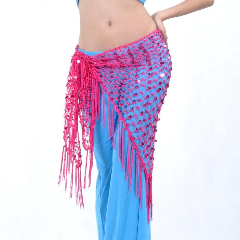 Mermaid Sequin Fringe Oriental Bellydance Belly Dance Costume Belt for Women Dancing Waist Hip Scarf Scarves Accessories Clothes