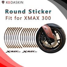 KODASKIN Motorrad 2D Emblem Runde Aufkleber Aufkleber Große Felge für XMAX 300
