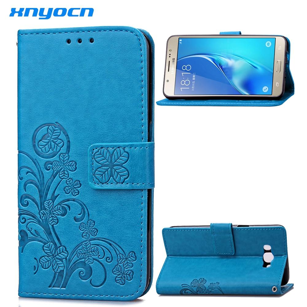 Xnyocn para Samsung Galaxy J3 J5 J7 caso Vintage de cuero cartera Flip cubierta suave del teléfono celular casos para J310 J510 j710 tarjeta