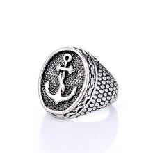 2019 nouvelle mode Vintage gothique Hip Hop Rock Punk anneau en métal pour hommes femmes de luxe marine ancre échelles anneaux bijoux en gros