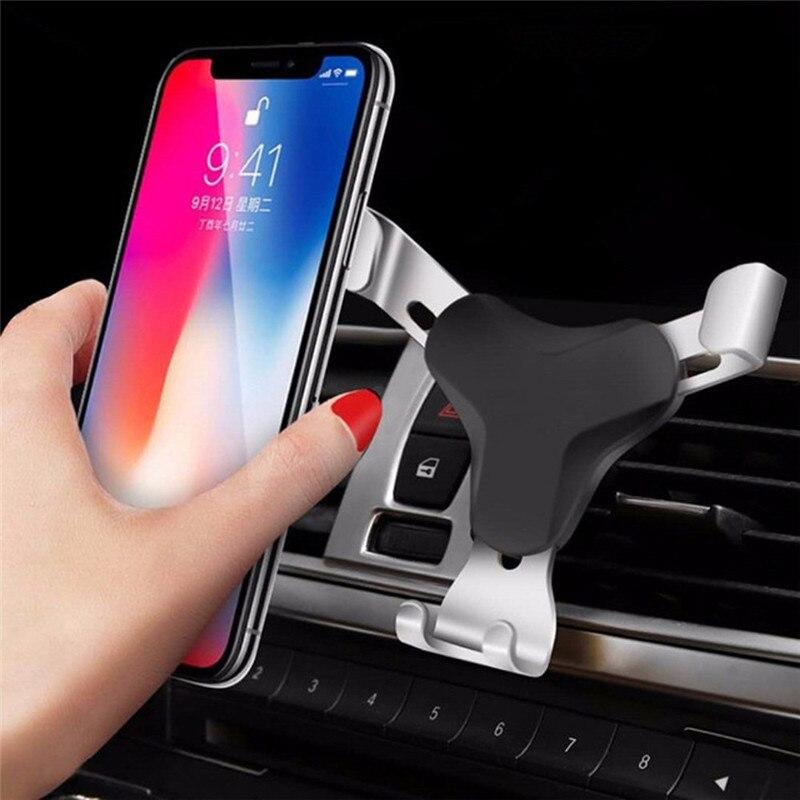 Soporte de aluminio para coche kongyide, soporte de montaje de diseño gravitatorio para teléfono móvil, tableta GPS Universal mar8
