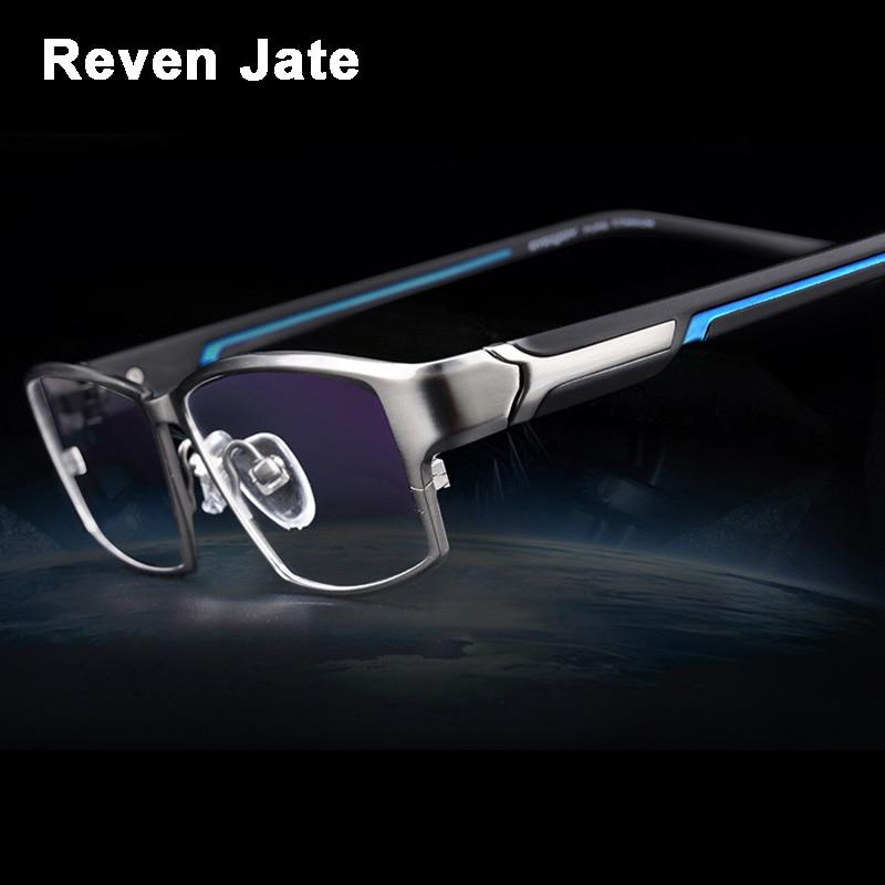 نظارات للرجال من Reven Jate EJ267 بإطار خفيف الوزن ومرن ومرن بطلاء إلكتروني من مادة معدنية نظارة ذات حافة