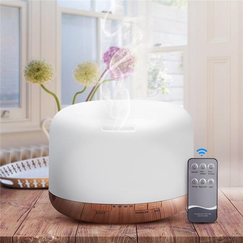 Air Humidifier Essential oil diffuser 300ML 500ML Ultrasonic Cool Mist Maker Fogger Humidifier LED L