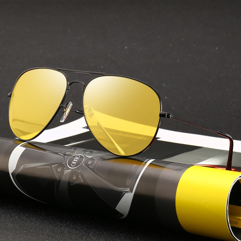 Очки ночного видения, водительские очки, автомобильные антибликовые очки для вождения, УФ-защита, поляризованные солнцезащитные очки для м...