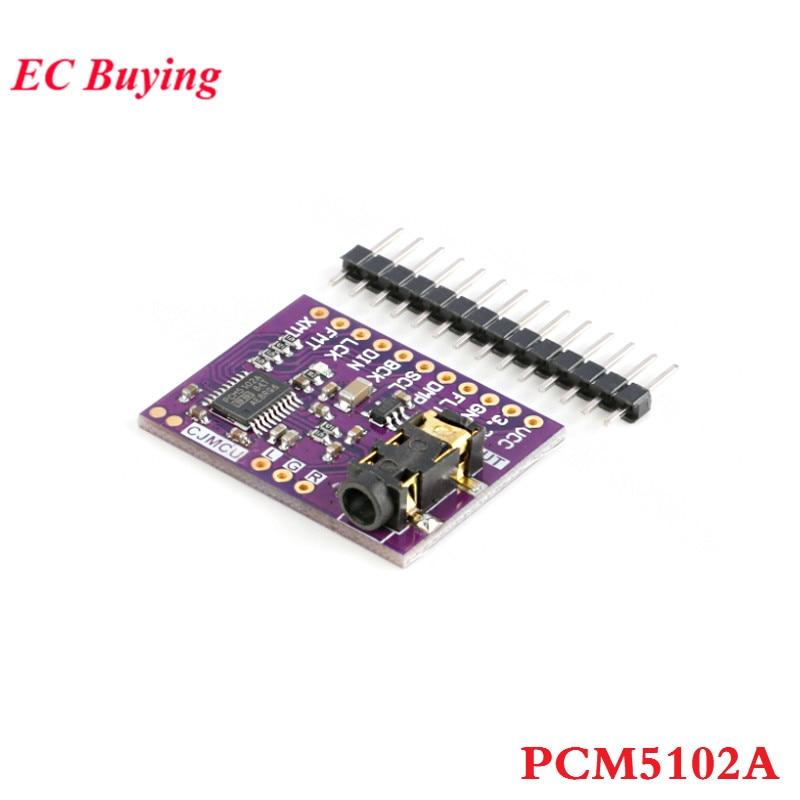 Interfaz I2S PCM5102A, decodificador de Audio estéreo, modulo DAC, convertidor Digital de Audio PCM5102, módulo PLL de voz con soporte para auriculares de 3,5mm