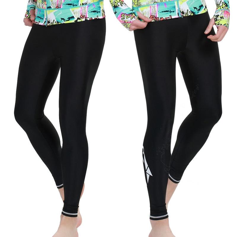SBART Mem/mujeres Rashguard pantalones Lycra secado rápido UPF 50 + Yoga pantalones ajustados mujeres natación surf Fitness Leggings Pantalones