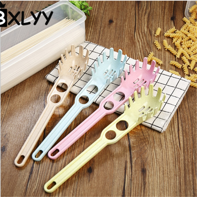 BXLYY de paja de trigo Multi-función espaguetis cuchara huevos separador de clara de huevo de cucharillas accesorios de cocina Gadgets.7z