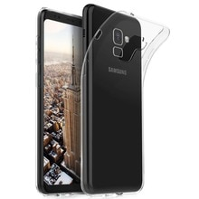 A8 2018 étui anti-chocs Transparent étui pour samsung Galaxy A8 Plus couverture Ultra mince étui en Silicone Transparent TPU Coque Capa