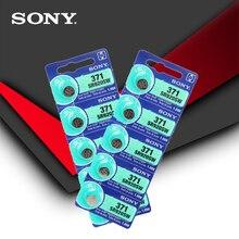 10 stücke Sony 100% Original 371 SR920SW 920 1,55 V Uhr Batterie SR920SW 371 Taste Münze Zelle MADE IN JAPAN