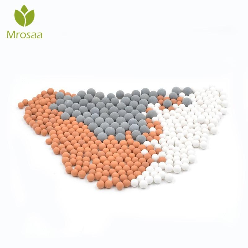 Mrosaa Bad Ersetzen Wasser Reinigung Mineral Perlen Negative Ionen Keramik Energie Bälle für Filter Dusche Kopf Sprayer