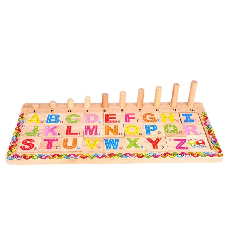 Juguetes Educativos de aprendizaje de madera Montessori para niños, rompecabezas de tablero logarítmico en inglés EduKnows, tablero logarítmico de operación matemática