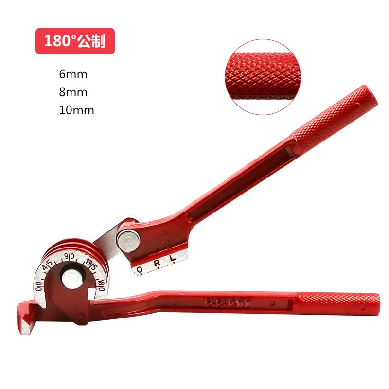 Doblador de tubos para 6mm 8mm 10mm 180 grados métrico tres ranuras cobre aluminio Manual llave de Tubo aire 3 en 1 condición