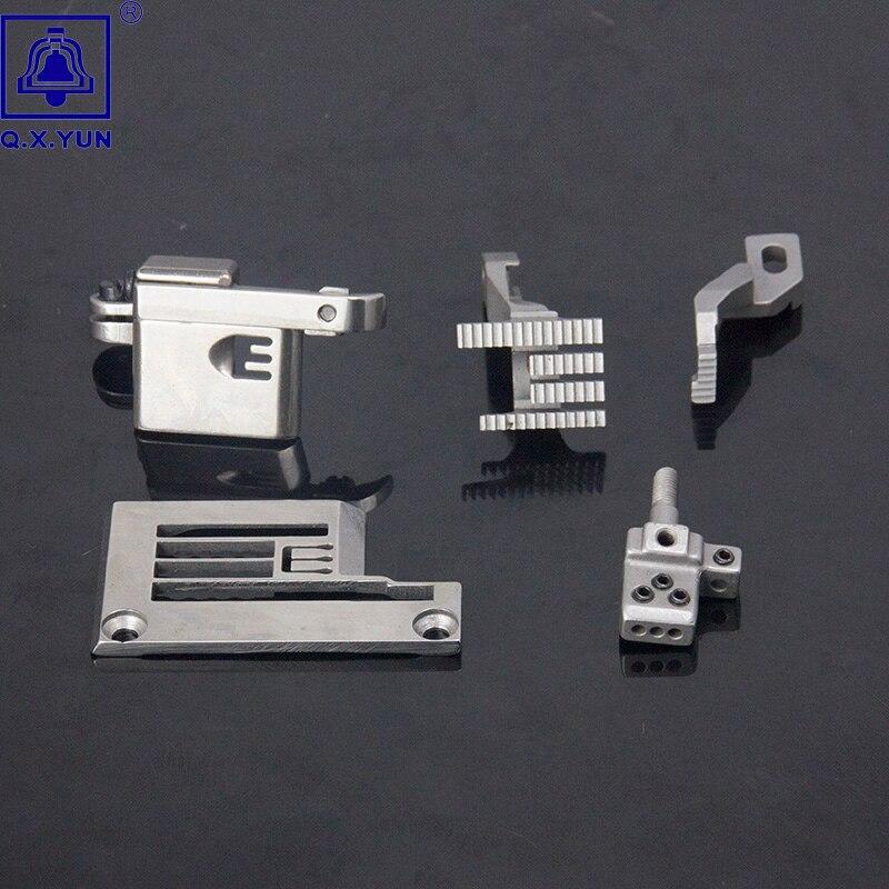 Q X YUN Industrial repuestos para máquina de coser de conjunto para SIRUBA F007E-W222/FQ calibre de E3326/H1262/D1216/P2116-A/M4356