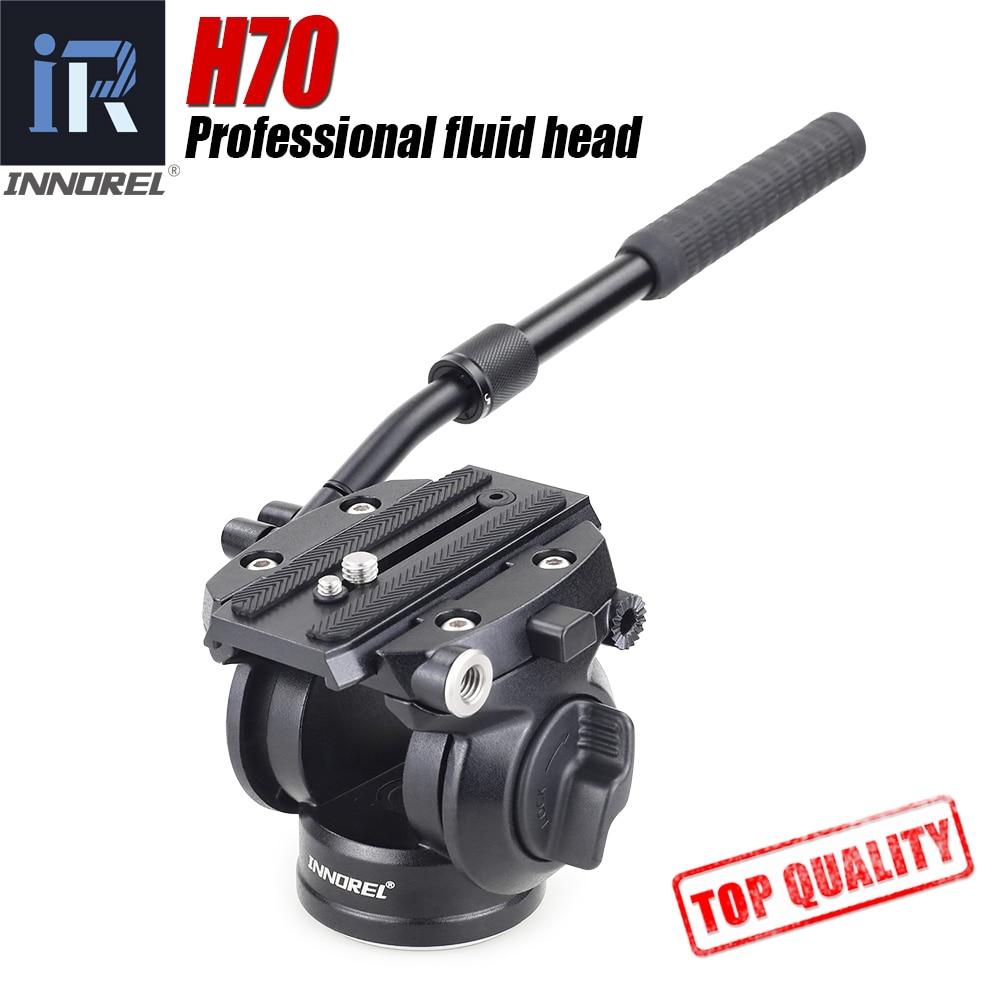 H70 Штатив для видеосъемки, жидкий монопод, гидравлическая амортизирующая головка для камеры DSLR, наблюдение за птицами, нагрузка 8 кг, портати...