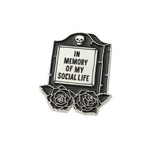 Social Life Enamel Pin