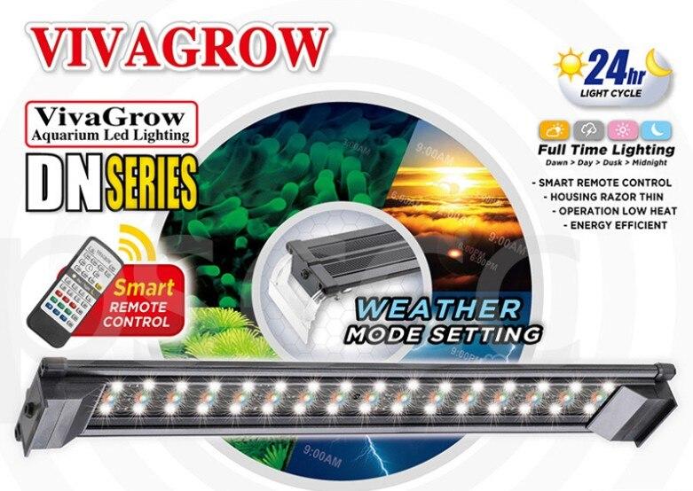 "18 ""ODYSSEA VIVAGROW DN50 DayNight RGB LED acuario iluminación plantas de agua dulce crece la luz 24/7 automatización remota"