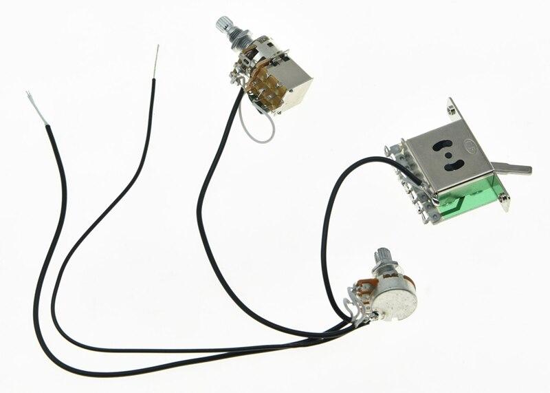 KAISH Prewired Cablagem 1 Volume 1 Tom de Push Pull 500 K Mini Pots & Interruptor de 3 Vias