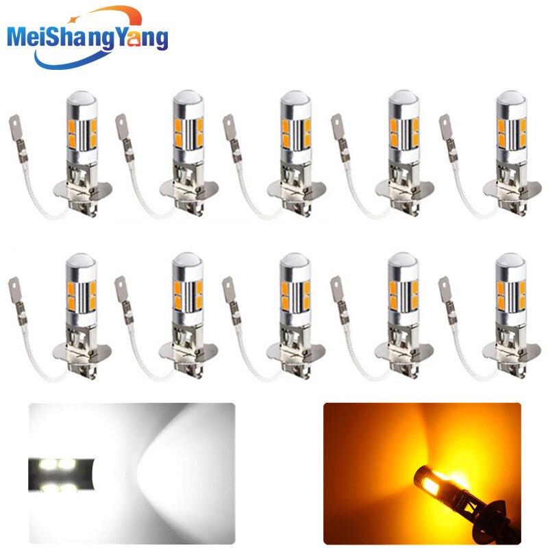 10 шт., Автомобильные светодиодные лампы H3 10, противотуманные светодиодные лампы высокой мощности 5630 smd, Автомобильные светодиодные лампы, Ав...