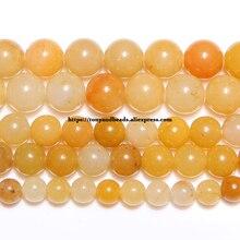 """Freies Verschiffen Natürliche Stein Gelb Aventurin Edelstein Perlen 15 """"Strand 6 8 10mm Pick Größe Für Schmuck Machen keine. JD15"""