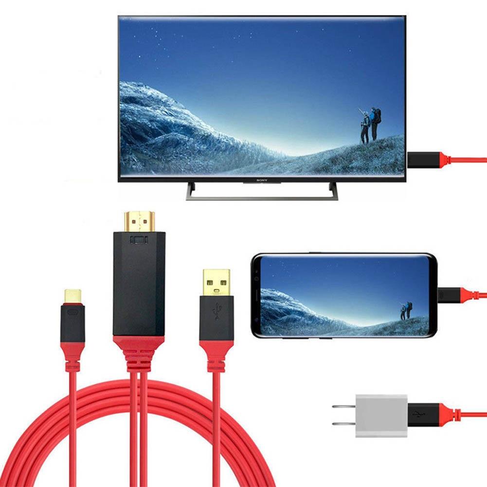 2M USB Type-C к HDMI 4K HDTV видео кабель адаптер для Samsung Galaxy Note S8 Huawei P9 P10 Plus GDeals