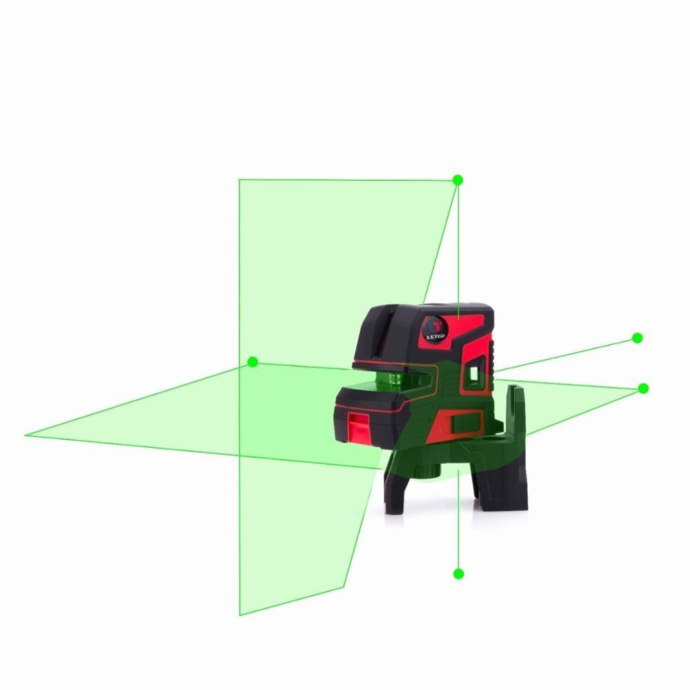 Nova Linha 5 2 leter Auto Nivelamento Automático Ponto 1V1H LT-303G Nível Laser Verde