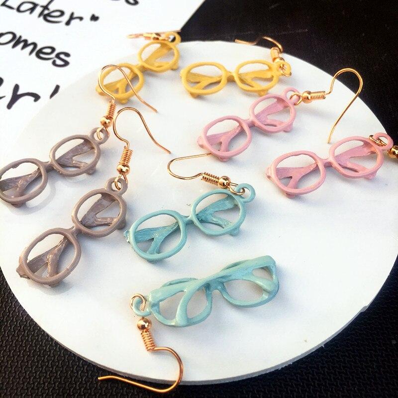 Aleación única gafas de sol gota pendientes personalidad gafas marco gota pendiente para chica divertido regalo de joyas de fiesta
