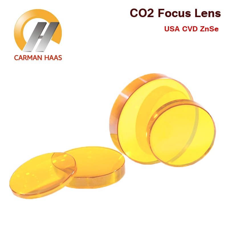 2 uds envío gratis lente de enfoque CO2 USA ZnSe diámetro de la lente de enfoque. 18mm 19,05mm-38,1mm 50,8mm 63,5mm 75mm 100mm 127mm