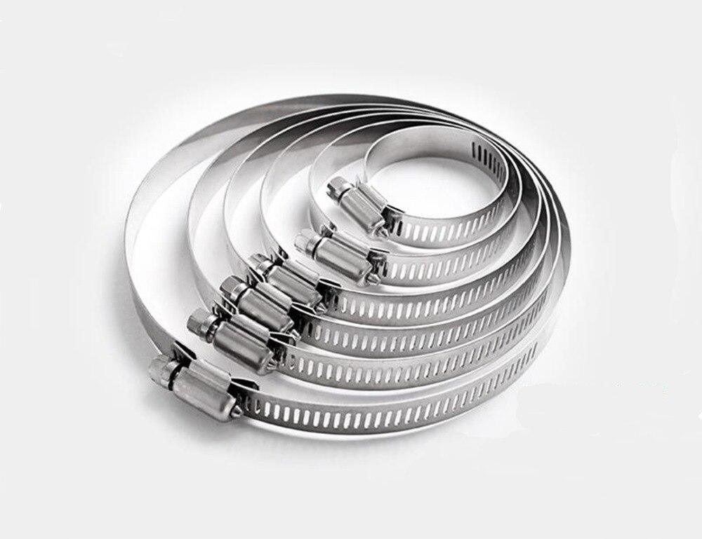 Pince de serrage en acier inoxydable   Pince de Tri, tuyau de ligne de carburant réglable, Clip dengrenage à vis sans ver, Tube de serrage 8-12mm