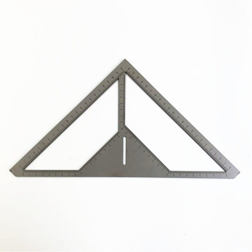 Regla multifunción de drenaje de piso albañil de acero inoxidable regla triangular patrón de flores regla de azulejo para constructor