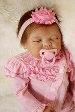 "22 ""reborn puppen babys echt neugeborenes baby suchen rosa kleidung kreative kind geschenk puppen spielzeug reborn bonecas lebendig bebe"