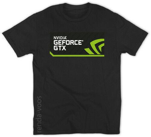 NVIDIA GeForce GTX Logo hombre Camiseta nueva S-3XL