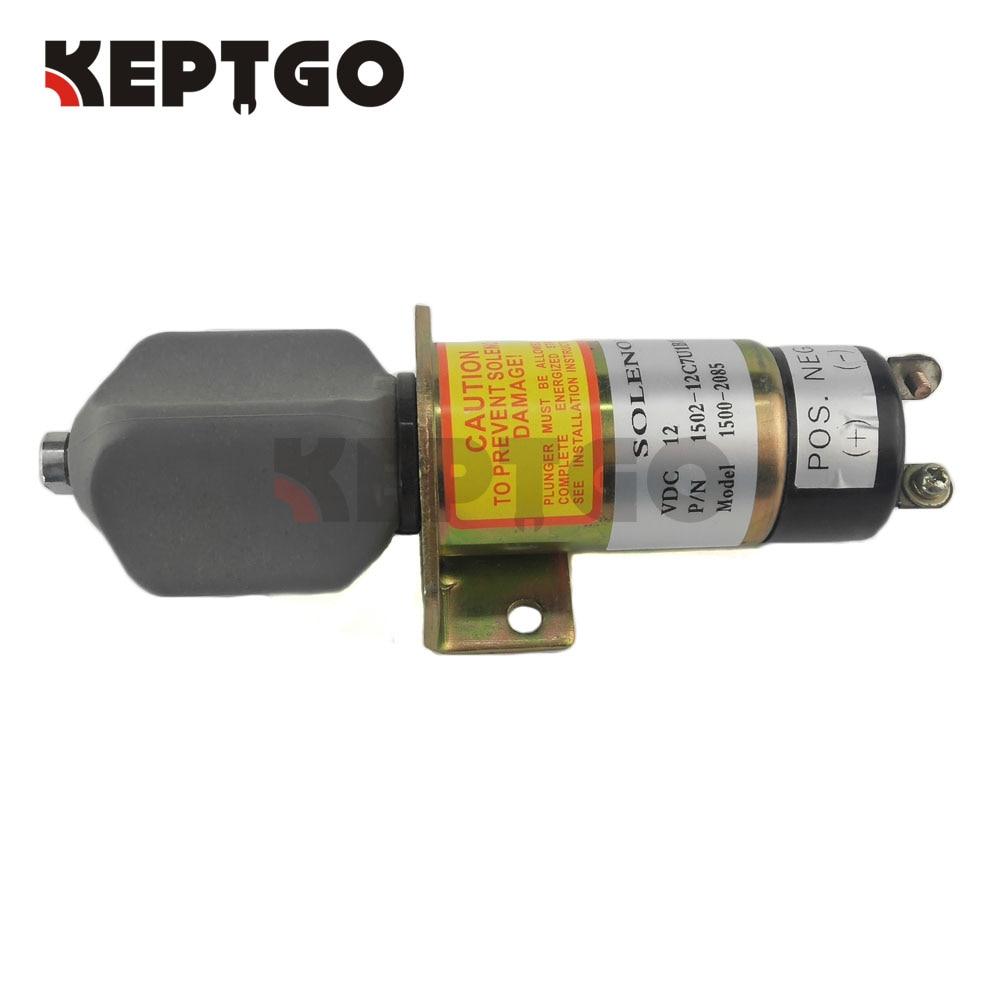 صمام لولبي لإغلاق الوقود 12 فولت, 1502-12C7U1B1S1A 1500-2085 للخشب 2 أطراف