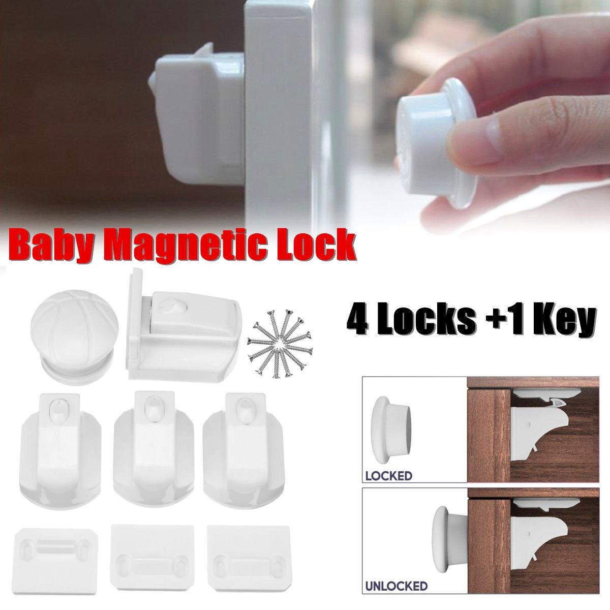 4 шт. Магнитный детский замок, детский шкафчик, безопасные замки, детский шкафчик с ящиком Armario, Шкафчики для безопасности, шкаф