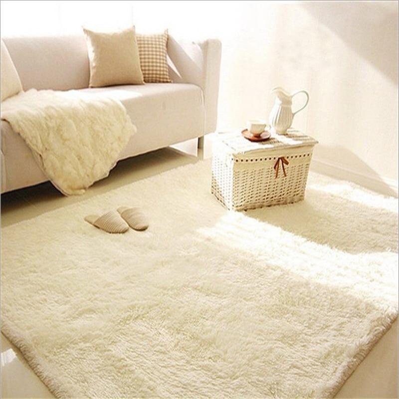 سجادة حرير ناعمة مخصصة لغرفة المعيشة وطاولة الشاي وغرفة النوم والسرير والباب
