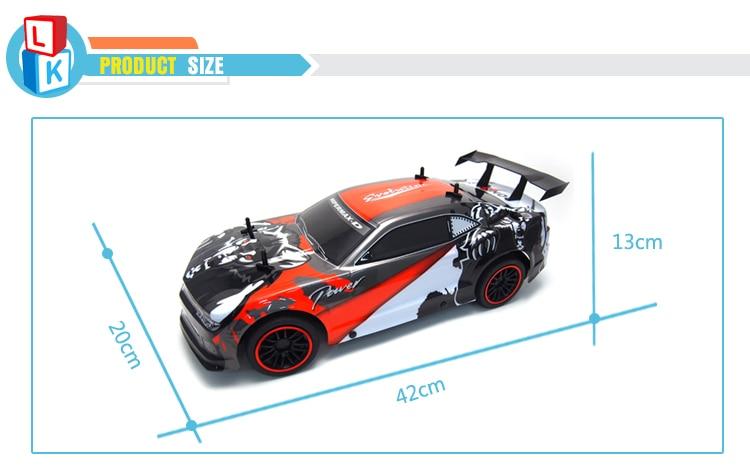 Professional High Speed 25km/h 4 Channels RC Racing Car 1:10 Remote Control Car rc Drift Wltoys uzaktan kumandali araba enlarge