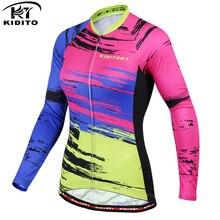 KIDITOKT 2020 Pro maillot de cyclisme à manches longues été respirant vêtements de cyclisme course vtt vélo vêtements de cyclisme pour les femmes