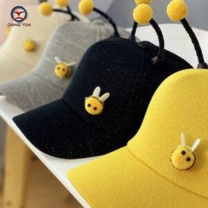 CHING YUN Boy Girl Baseball Cap 2019 Summer Little bee Hat Cartoon Children Letter Cotton Caps Boy Sun Hats Baby Kids Caps