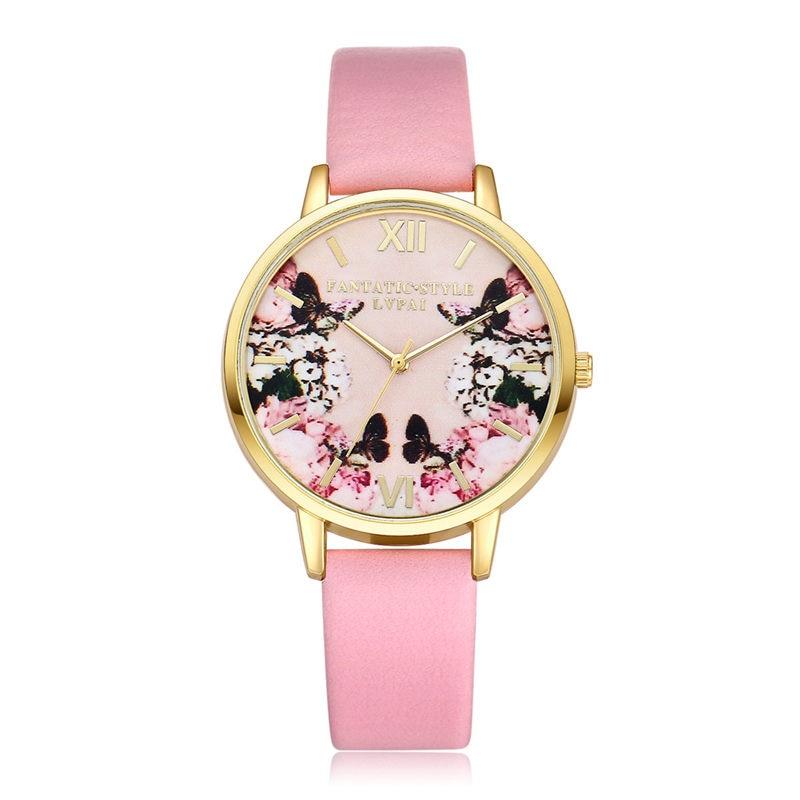 2018 New Fashion Women Watches Leather Elegant Watch Women Quartz WristWatch Gift for Lovers relogio
