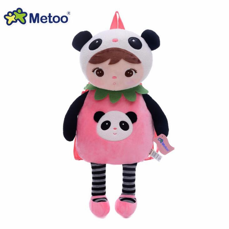 Hot Animals Cartoon Bags Kids Doll Plush Backpack Toy Children Shoulder Bag for Kindergarten Angela Rabbit Girl Metoo Backpack