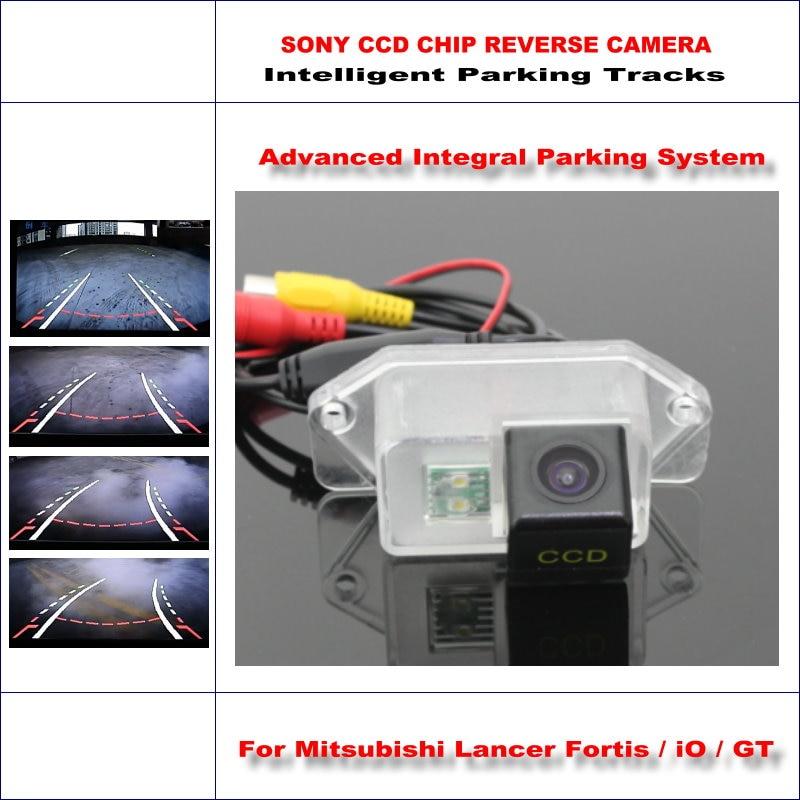 Интеллектуальная парковочная камера заднего вида для Mitsubishi Lancer Fortis/iO/GT Reverse/NTSC RCA AUX HD SONY CCD 580 TV Lines