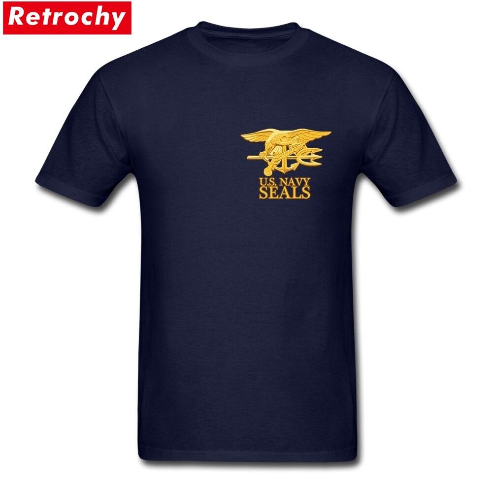 Camisetas del ejército de ee.uu. Navy SEALS, camisetas 100% de algodón de talla grande para hombre, camisetas de manga corta para XS-3XL