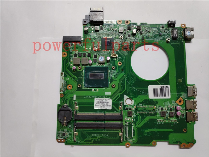Placa base para ordenador portátil HP ENVY 17-K 763727-501 763727-601 DAY31AMB6C0 con I7-4510U CPU gtx 850M GPU completamente probada