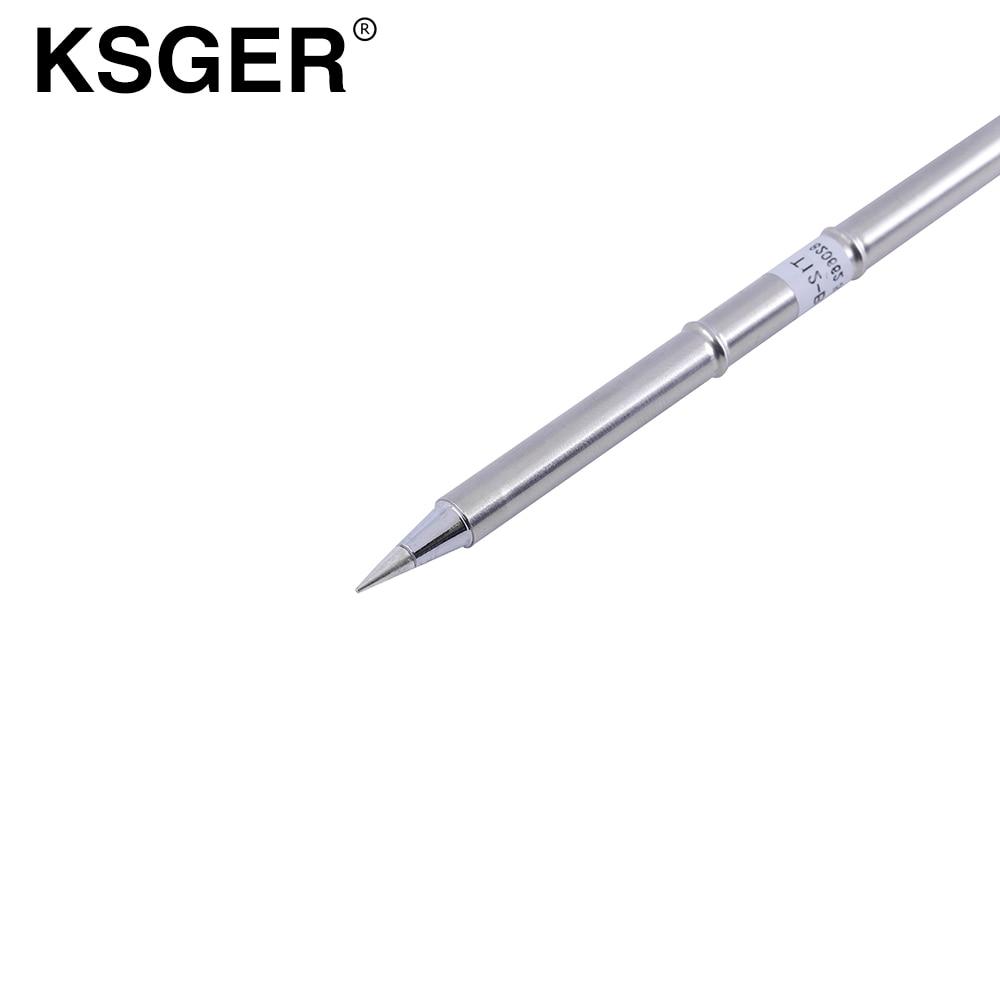 KSGER T12 Solder Löten Eisen Tipps T12-BL T12-B T12-B2 Digital Schweißen Werkzeuge Für Hakko T12 Löten Station