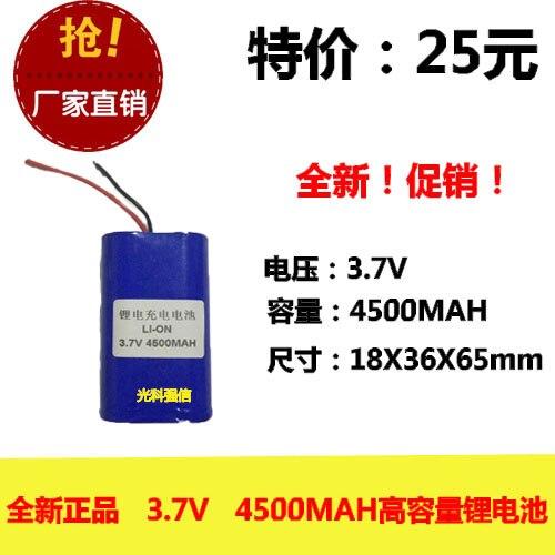 Genuine original 18650 bateria recarregável de lítio 4500MAH 3.7V 2 paralelo com Células Li-ion Recarregável de chumbo